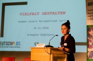 Armaghan Naghipour - stv. Vorsitzende des Vereins DeutschPlus e.V. – Initiative für eine plurale Republik